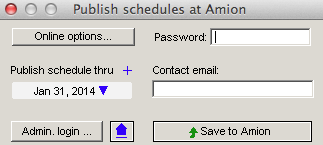 if you are working on future schedules that you dont want your staff to view online you can change the publish thru date before publishing to the web